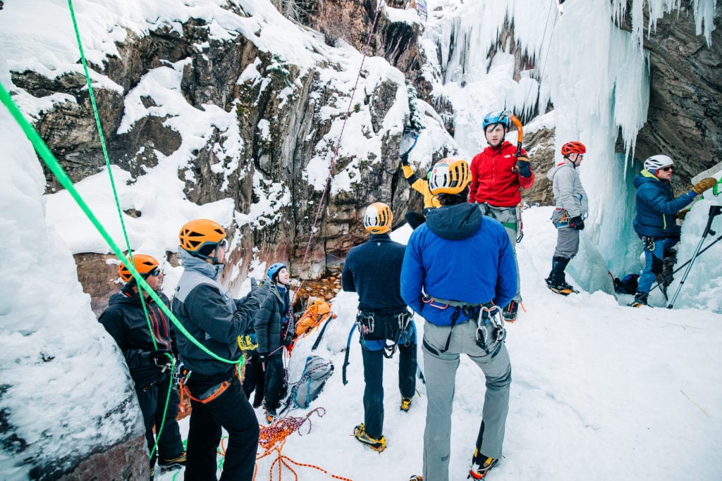 Ice Climbing Clinic at Ouray Icepark